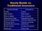 surety bonds vs traditional insurance