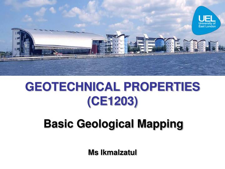 geotechnical properties ce1203 n.