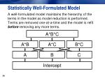 statistically well formulated model1