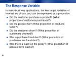 the response variable