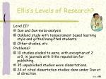 ellis s levels of research2