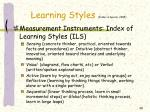 learning styles felder spurlin 2005