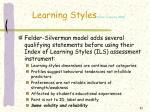 learning styles felder spurlin 20051
