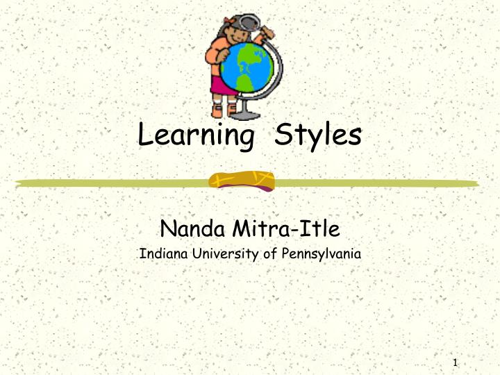 learning styles n.