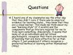 questions