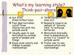 what s my learning style think pair share1