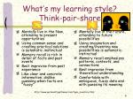 what s my learning style think pair share2