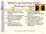 what s my learning style think pair share3