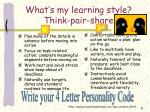 what s my learning style think pair share4