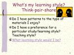 what s my learning style think pair share5
