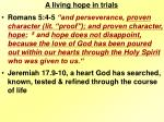 a living hope in trials