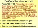 the word of god refines us in faith