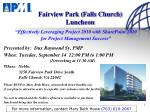 fairview park falls church luncheon