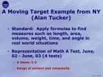 a moving target example from ny alan tucker