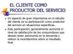 el cliente como productor del servicio1