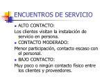 encuentros de servicio