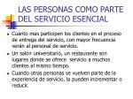 las personas como parte del servicio esencial