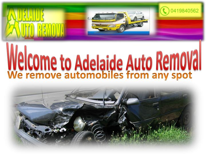 Welcome to Adelaide Auto Removal