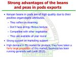 strong advantages of the beans and peas in pods exports