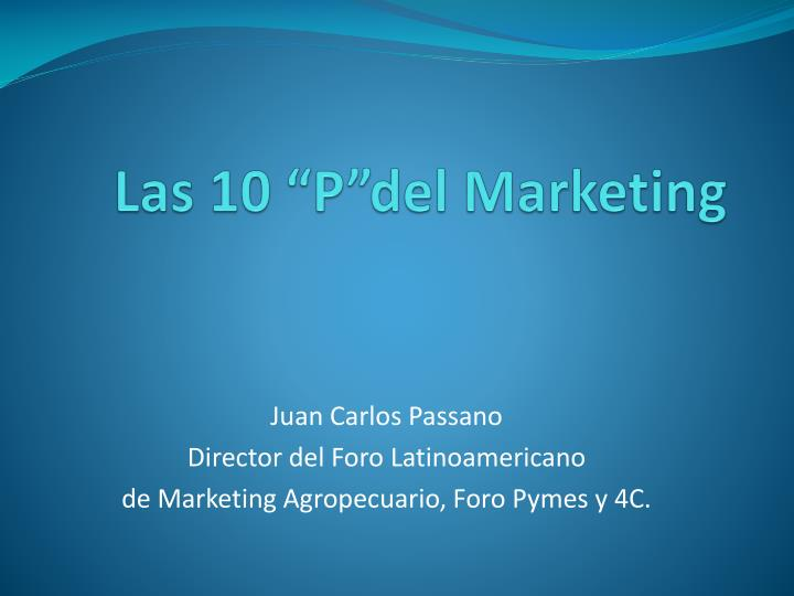 las 10 p del marketing n.