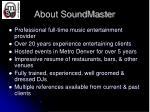 about soundmaster