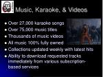 music karaoke videos
