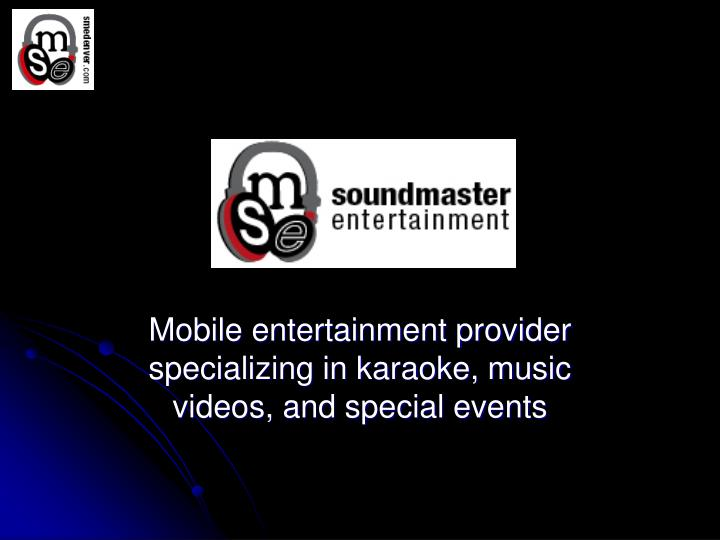 soundmaster entertainment n.