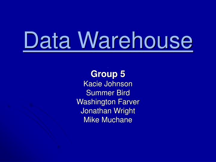 data warehouse n.