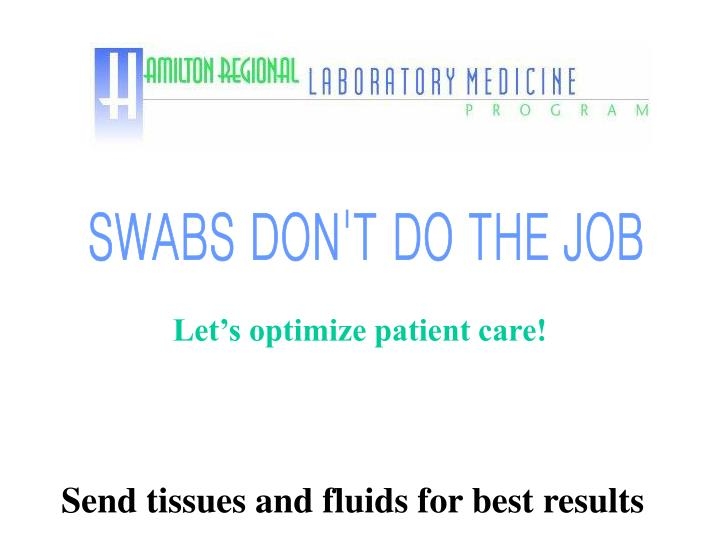 let s optimize patient care n.