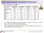 godrej netherlands bv consolidated performance