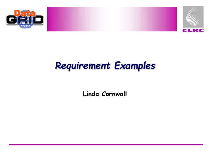 requirement examples n.