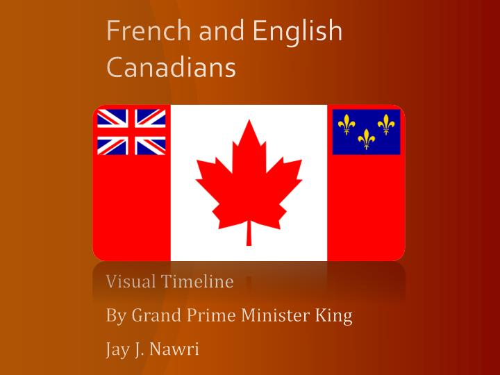 french and english canadians n.
