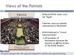 views of the patriots