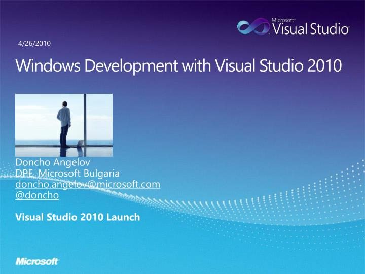 windows development with visual studio 2010 n.
