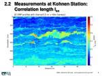 2 2 measurements at kohnen station correlation length l ex
