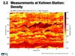 2 2 measurements at kohnen station density
