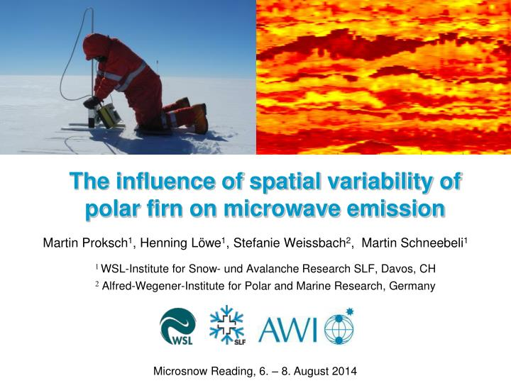 the influence of spatial variability of polar firn on microwave emission n.