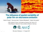 the influence of spatial variability of polar firn on microwave emission