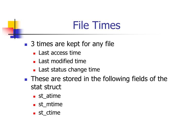 File Times
