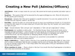 creating a new poll admins officers2