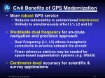 civil benefits of gps modernization