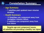constellation summary