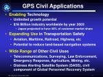 gps civil applications