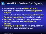 key gps iii goals for civil signals