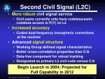 second civil signal l2c