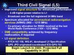 third civil signal l5
