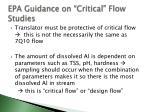 epa guidance on critical flow studies