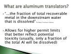 what are aluminum translators