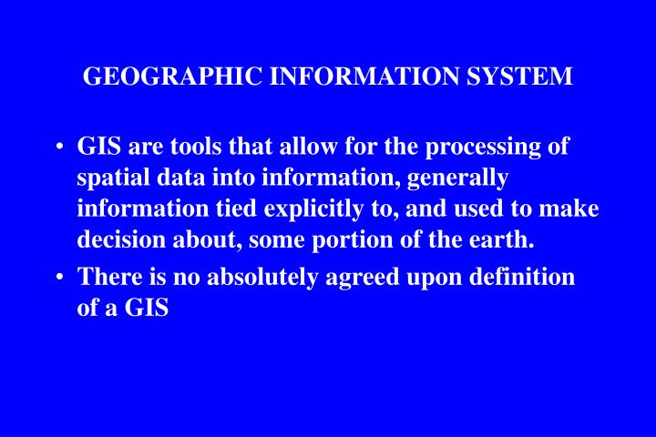 geographic information system n.