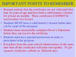 important points to remember1
